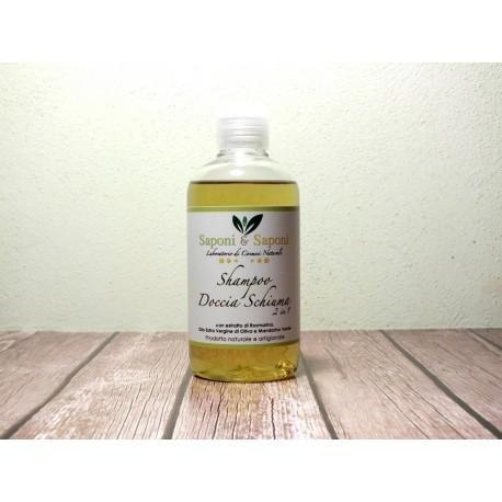 Shampoo Doccia Schiuma con estratto di Rosmarino, Olio extra vergine di oliva e Mandarino Verde
