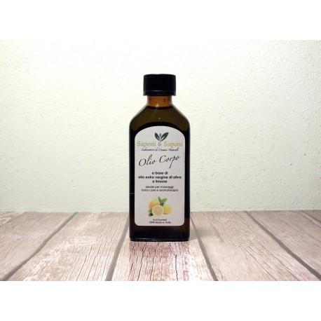Olio Corpo a base di Olio Extra Vergine di Oliva e Limone