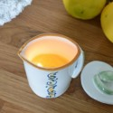 Cosmetic Candle for Massage with Extra Virgin Olive Oil and Lemon