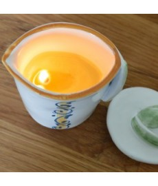 Cosmetic Candle for Massage with Extra Virgin Olive Oil and Grapefruit